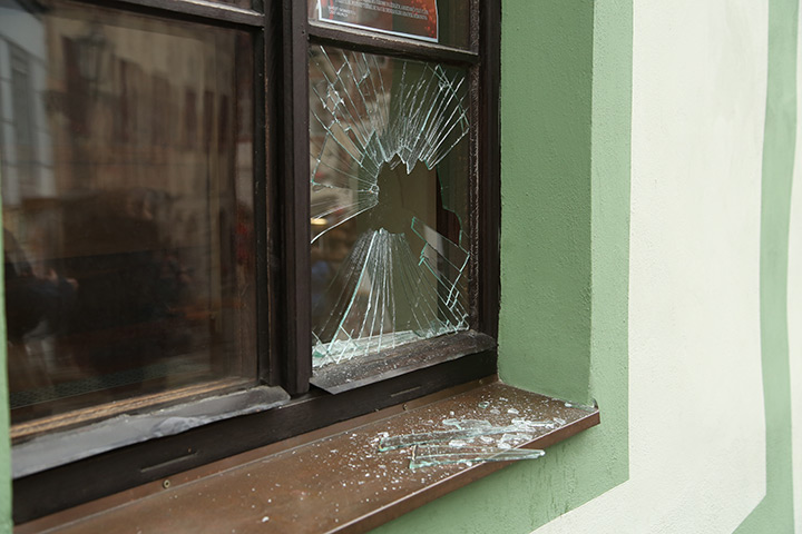 A2B Glass are able to board up broken windows while they are being repaired in Crouch End.